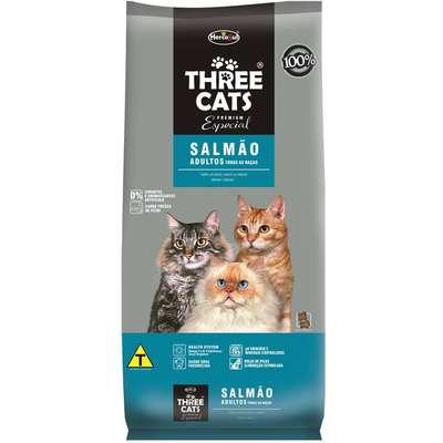 Ração Hercosul ThreeCats Especial Salmão para Gatos Adultos