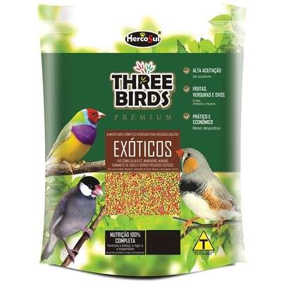 Ração Hercosul Three Birds Premium para Pássaros Exóticos Adultos