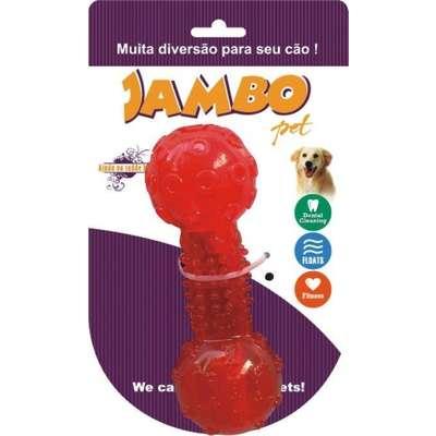 Brinquedo Jambo Tpr Osso Squeack - Vermelho