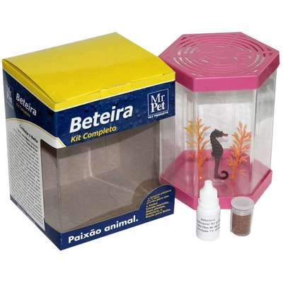 Kit Beteira Mr Pet Sextavada de 1 Litro - Rosa