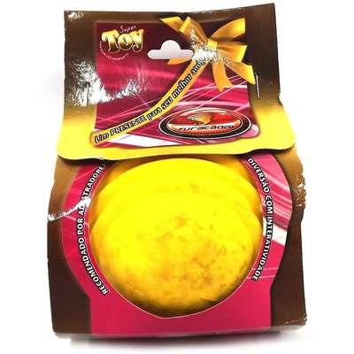 Bola Maciça com Friso Furacão Pet - Amarelo