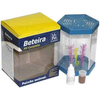 Kit Beteira Mr Pet Sextavada de 1 Litro - Azul
