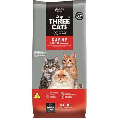 Ração Hercosul ThreeCats Especial Carne para Gatos Adultos