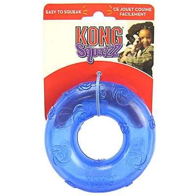 Brinquedo Kong Squeezz Ring - Azul