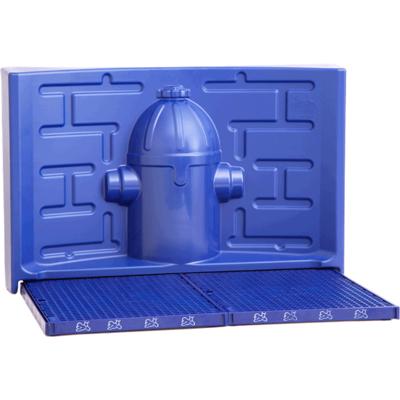 Kit Pipidollys Sanitário Luxo para Cães Machos - Azul com Acessório Azul
