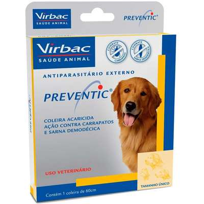 Coleira Virbac Preventic Anti Carrapatos e Sarna