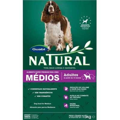 Ração Guabi Natural Cães Adultos Raças Médias