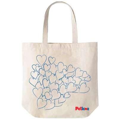 Sacola Eco Bag de Algodão Petlove - Azul
